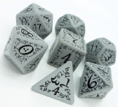 Grey & Black Elven Dice Set